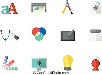 Flat color icons - Printing & Graphic Design