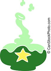 flat color illustration cartoon potion