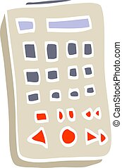 flat color illustration cartoon remote control