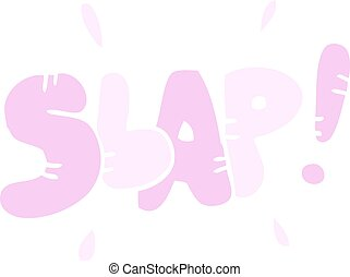 flat color illustration cartoon slap symbol