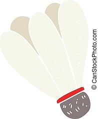 flat color illustration of a cartoon badminton
