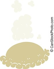 flat color illustration of baked pasty