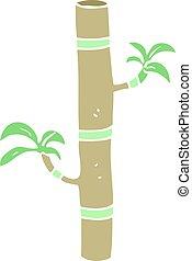 flat color illustration of a cartoon bamboo