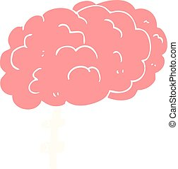 flat color illustration of a cartoon brain