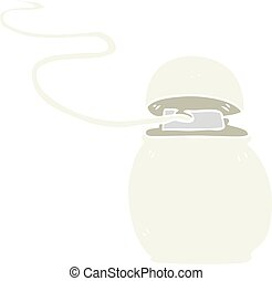 flat color illustration of a cartoon dental floss - flat...