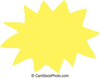 flat color illustration of a cartoon explosion
