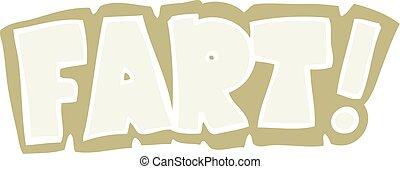 flat color illustration of a cartoon fart symbol