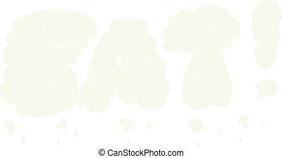 flat color illustration of a cartoon fat symbol