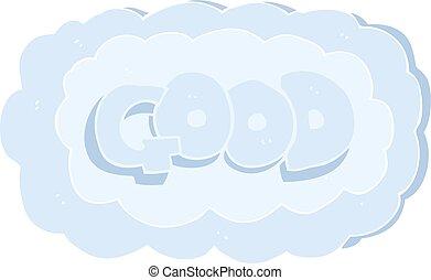 flat color illustration of a cartoon Good symbol