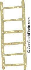 flat color illustration of a cartoon ladder