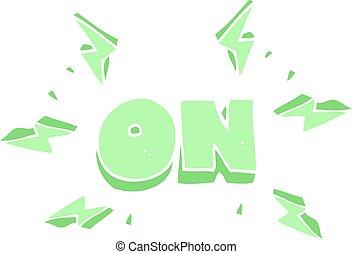 flat color illustration of a cartoon on symbol
