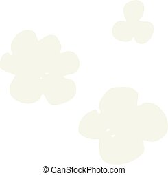 flat color illustration of a cartoon puff of smoke - flat...