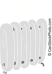 flat color illustration of a cartoon radiator - flat color...