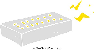 flat color illustration of a cartoon remote control