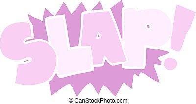 flat color illustration of a cartoon slap symbol - flat...