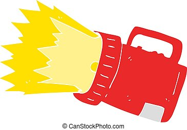 flat color illustration of a cartoon torch