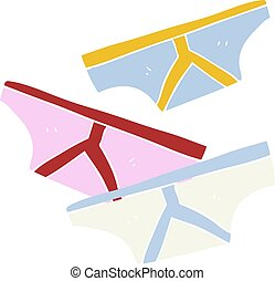 flat color illustration of a cartoon underpants - flat color...