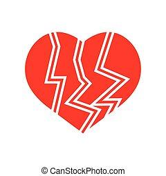 Flat color polka dot heart icon
