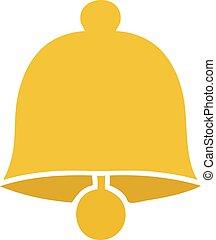 flat color retro cartoon brass bell