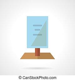 Flat color signboard vector icon