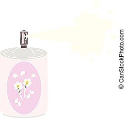 flat color style cartoon aerosol freshener spray can