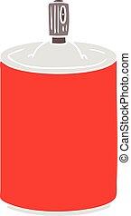 flat color style cartoon aerosol spray can