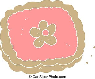 flat color style cartoon biscuit