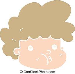 flat color style cartoon boy