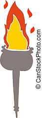 flat color style cartoon flaming chalice