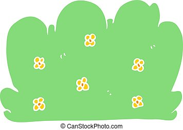 flat color style cartoon hedge
