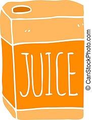 flat color style cartoon juice box