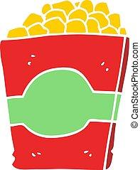 flat color style cartoon popcorn