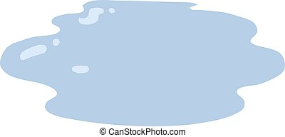 flat color style cartoon puddle of water