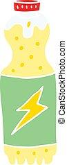 flat color style cartoon soda bottle