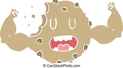 flat color style cartoon strong cookie