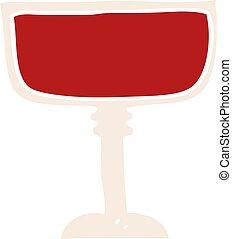 flat color style cartoon wine glass