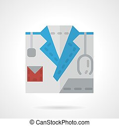 Flat color style doctor vector icon.