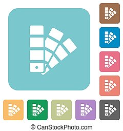 Flat color swatch icons