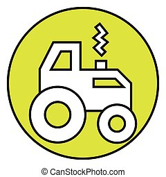 Flat color tractor icon