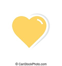 Flat color Vector Heart Icon