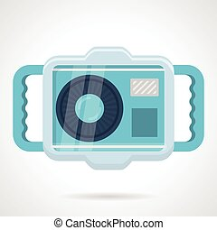Flat color vector icon for camera