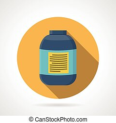 Flat color vector icon for creatine - Yellow flat color...