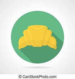 Flat color vector icon for croissant