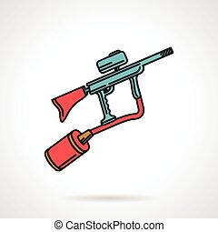 Flat color vector icon for paintbal