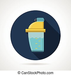 Flat color vector icon for shaker