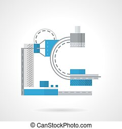 Flat color x-ray machine vector icon - Flat color style...