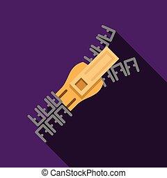 Flat color zipper vector icon