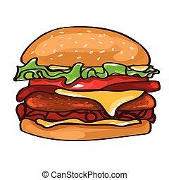 Flat Colorful Burger Concept