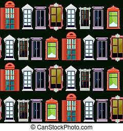 Flat Colorful Windows Seamless Pattern