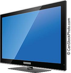 Flat computer monitor. Display. Ve - Flat TV monitor....